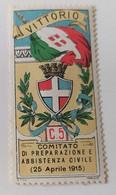 ERINNOFILI VIGNETTE CINDERELLA - VITTORIO 1915 ASSIATENZA CIVILE - Cinderellas