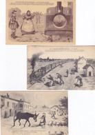 (24)    Lot De 3 Cartes Humoristique Du Morvan - Non Classificati