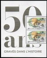 1 PAIRE DE TIMBRE ISSU LIVRET 50 ANS DE L'IMPRIMERIE « GRAVÉS DANS L' HISTOIRE » - Neufs