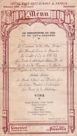 MENU  - HÔTEL  CAFE -RESTAURANT De FRANCE   Edouard CAT Propriétaire  MAUVEZIN - Menus