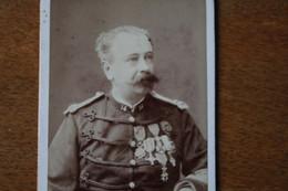 CDV Armée Française Commandant D'HEILLY 1888 Dédicace Nombreuses Décorations Militaires étrangères - Guerre, Militaire