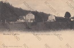 CARTOLINA  SOUVENIR DA ARLON,LUXEMBOURG,BELGIO,LA GAICHEL SUR LA FRONTIERE DU GRAND DUCHE,VIAGGIATA 1902 - Arlon