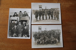 3 Photos Camp De Offlag  Officiers Vers 1942 1943 Grand Tirage  Dont Zouave - 1939-45