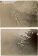 SUISSE,  2 Photos Originales 8 X 10,5 Cm - Funiculaire Territet Clion - Lieux