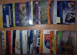 Nice Collection Of 50 DIFFERENT Phone Cards Cartes Karten From LITHUANIA Lituanie Litauen. Sale! Very Cheap Lot - Collezioni
