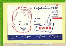 BUVARD  : L'enfant A Besoin D'Eau  EVIAN - Sprudel & Limonade