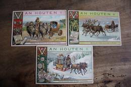 3 Chromos Anciens Chocolat Van Houten      Lot 116 - Van Houten
