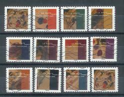 Superbe Série Adhésive Nouveauté Kandinsky 2021 Oblitérée TTB - Adhesive Stamps