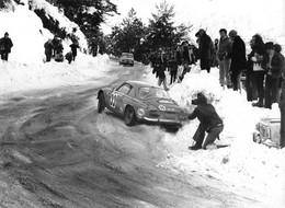 "2244"" FOTO-ALPINE RENAULT N°33 RALLYE MONTE CARLO  1973  HENRJ -THIRJ"" MISURE (17.50X 24.00) - Cars"