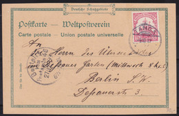 Deutsch Ost-Afrika    .    Postkarte     . Gebraucht     (2 Scans) - Colony: German East Africa