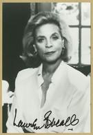 Lauren Bacall (1924-2014) - Actrice Américaine - Jolie Photo Signée - Autógrafos