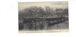 INONDATIONS DE PARIS  JANVIER  1910  ENTREE DE LA GARE DES INVALIDES         *****     A  SAISIR **** - Alluvioni Del 1910