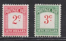 SEYCHELLES Scott # J9-10 MH - Postage Dues - Seychelles (...-1976)