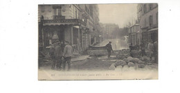 INONDATIONS DE PARIS  JANVIER  1910  RUE GROS      *****     A  SAISIR **** - Alluvioni Del 1910