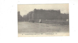 INONDATIONS DE PARIS  JANVIER  1910  Pont Solferino    *****     A  SAISIR **** - Alluvioni Del 1910