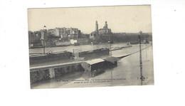 INONDATIONS DE PARIS   1910  LA SEINE ET LA LIGNE DES INVALIDES PRISES DU QUAI DE GRENELLE  *****  RARE   A  SAISIR **** - Alluvioni Del 1910