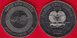 """Papua New Guinea 50 Toea 2018 """"APEC Port Moresby"""" UNC - Papua New Guinea"""