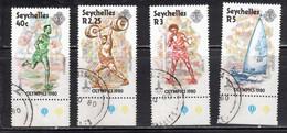 SEYCHELLES Scott # 452-5 Used - Moscow Olympics 1980 - Seychelles (...-1976)