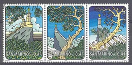 San Marino 2002 Mi 2027-2029 MNH  (ZE2 SMRdre2027-2029) - Castles