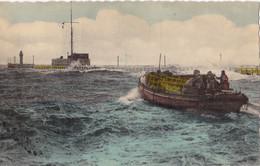 Ostende Canot De Sauvetage Pendant La Tempête Circulée En 1956 - Oostende