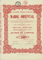 Titre Ancien - Société Franco-Belge Du Maroc Oriental - Syndicat D'Etudes  - Titre De 1920 - - Africa