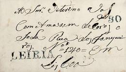 1838 Portugal Pré-Filatelia LRA 5 «LEIRIA» Azul - ...-1853 Vorphilatelie