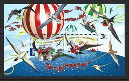 Christmas Island 2013 Xmas Miniature Sheet Santa & Bird MNH - Christmaseiland