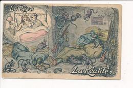 Carte Militaire Le Rêve La Réalité  Illustrateur Ch. LEO ( Grande Pliure Sur Le Coin En Bas à Droite ) - Patriotic