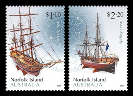 Norfolk Island 2021 Mih. 1303/04 Norfolk Island Museum: Maritime Models. Ships HMS Sirius & HMAT Supply MNH ** - Norfolk Eiland