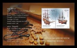 Norfolk Island 2021 Mih. 1303/04 (Bl.82) Norfolk Island Museum: Maritime Models. Ships HMS Sirius & HMAT Supply MNH ** - Norfolk Eiland