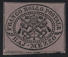 Papal State 1864 1/2b Violet MNH ** Full Orig. Gum, Perfect Quality In All Respects, Sassone 1Aa, Uncommon This Fine - Kirchenstaaten