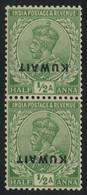 British Kuwait 1923 1/2a Emerald (SG 1) Pair With INVERTED OVERPRINT MNH ** Orig. Gum, Fault-free, 1980 Brandon Cert. - Other