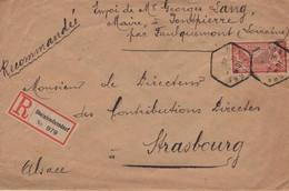 Recommandé Pontpierre Moselle TAD Sans Département A.P Lorraine 12.01.1920 étiquette Allemande Steinbiedersdorf  Merson - Alsace-Lorraine