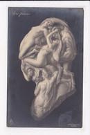 CP ILLUSTRATEUR  Femmes Nues Arcimboldesque  Un Faune - 1900-1949