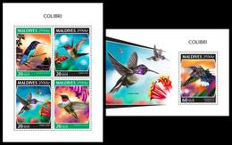 MALDIVES 2018 - Colibri - YT 6555-8 + BF1251, CV=26 € [MLD181101] - Hummingbirds