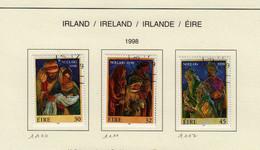 Irlande O N° Yv 1110, 1111, 1112; Mi 1109, 1110, 1111; SG 1206, 1207, 1208; Noël 1998. - Gebruikt