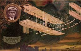 Publicité LU Collection Lefèvre-Utile: Expérience D'Aviation De Wright, Pau 1909 - Carte Gaufrée Non Circulée - Publicité