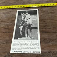 1931 PATI1 Statue équestre De Léopold II Sculpteur Courtens Pour Ostende - Non Classés