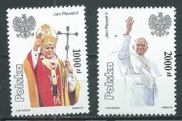 Pologne YT N°3136/3137 Visite En Pologne Du Pape Jean-Paul II Neuf ** - Neufs
