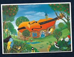Carte Postale Peinture - Mark Chaubaron - L'Âme Du Violon / Violin Spirit - Malerei & Gemälde