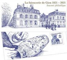 Souvenir Philatélique Faïencerie De Gien (2021) Neuf** - Neufs