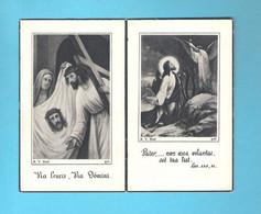 DOODSPRENTJE  FRANCISCUS VAN DE VELDE ECHT. OCTAVIA WALSCHAP (° BASEL-STEENDORP 1879 + STEENDORP 1948)(2 Scans) (DV 707) - Todesanzeige