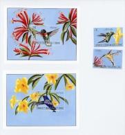 Congo RD 2000-Colibris-2 Blocs+série***MNH - Hummingbirds