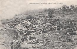 CARTE ALLEMANDE - GUERRE 14-18 - TRANCHÉES FRANÇAISE APRÈS LA BATAILLE - Guerra 1914-18