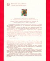 Nuovo - ITALIA - 1967 - Bollettino Illustrativo PP.TT. N. 148 Bis - 50º Anniversario Della Fondazione Dei Lions Club - Autres