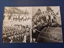 """Spartak"" USSR FOOTBALL TEAM In 1938 At The Parade . OLD SOVIET PC 1986 - SOCCER - Calcio"