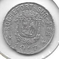 *monnaie De Necessite Rochefort 5 Centimes 1917 (13) - Monetari / Di Necessità