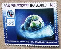 Bangladesh 2015.  150 Years Of ITU, Telecommunication And Innovation, Globe, Space. MNH - Bangladesh