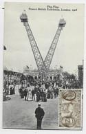ENGLAND CARD POST FRANCO BRITISH EXHIBITION  LONDON 1908 + VIGNETTE VIOLETTE EXPO FRANCO ANGLAISE - Covers & Documents