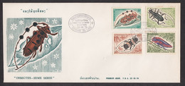 Laos Insects 2nd Series FDC 23.10.1974 - Laos